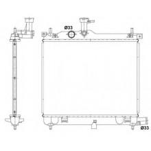Радиатор охлаждения HYUNDAI i10 (KOYORAD)