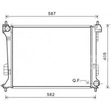 Радиатор охлаждения для хендай i20