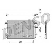 Радиатор кондиционера SEAT EXEO, AUDI A4 (DENSO)