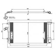 Радиатор кондиционера AUDI, PORSCHE, VW (KOYORAD)