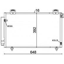 Радиатор кондиционера TOYOTA AVENSIS (DENSO)