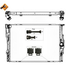 Радиатор охлаждения BMW 1 E81 / BMW 3 E91, E90 - 050042N (AKS DASIS)