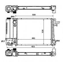 Радиатор охлаждения для бмв 3 е30, бмв 5 е28, е34