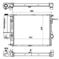 Радиатор охлаждения BMW 5 (E39) - 051080N (AKS DASIS)