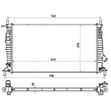 Радиатор охлаждения FORD C-MAX, FOCUS /  MAZDA 3 /  VOLVO C30, S40, V50 - 090011N (AKS DASIS)