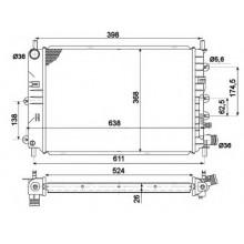 Радиатор охлаждения FORD ESCORT - 090680N (AKS DASIS)