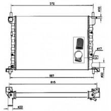 Радиатор охлаждения FORD FIESTA - 091350N (AKS DASIS)