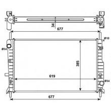 Радиатор охлаждения FORD MONDEO - 091580N (AKS DASIS)
