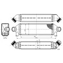 Интеркулер FORD TRANSIT - 097004N (AKS DASIS)