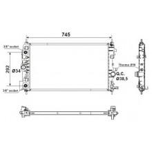 Радиатор охлаждения CHEVROLET CRUZE / OPEL ASTRA, ZAFIRA C - 150105N (AKS DASIS)