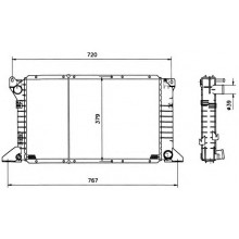 Радиатор охлаждения FORD TRANSIT - 250270N (AKS DASIS)