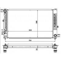 Радиатор охлаждения AUDI A6 - 480150N (AKS DASIS)
