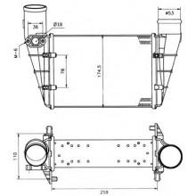 Интеркулер VW PASSAT / AUDI A6, A4 - 487003N (AKS DASIS)