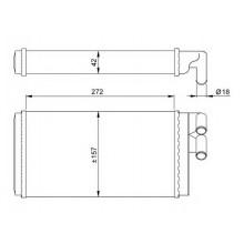 Радиатор печки AUDI V8, A6, 100, 200 - 489040N (AKS DASIS)