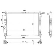 Радиатор охлаждения CHEVROLET AVEO - 510066N (AKS DASIS)