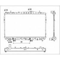 Радиатор охлаждения CHEVROLET LACETTI, NUBIRA, OPTRA - 520085N (AKS DASIS)