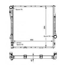 Радиатор охлаждения BMW X5 (E53) - 050032N (AKS DASIS)