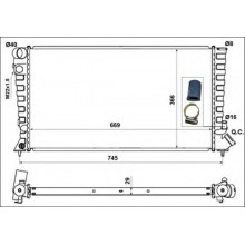 Радиатор охлаждения для ситроен берлинго, ситроен ксара, ситроен ZX, пежо 306, пежо партнер