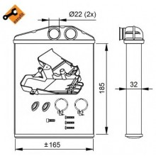 Радиатор печки FIAT, OPEL, SAAB - POLCAR