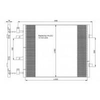 Радиатор кондиционера NISSAN, OPEL, RENAULT - POLCAR
