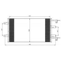 Радиатор кондиционера RENAULT, NISSAN, OPEL  - POLCAR