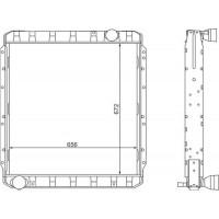 Радиатор камаз 5320 медно-латунный паяный 3-х рядный