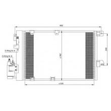 Радиатор кондиционера для Opel Astra G 1.2-1.8, Zafira 1.6-1.8  98-05