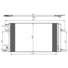 Радиатор кондиционера Opel Astra J CDTI, Cruze  635Х359