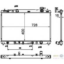 Радиатор охлаждения для TOYOTA CAMRY V40 01-06 2.4