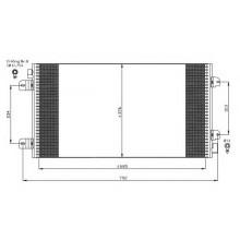 Радиатор кондиционера MOVANO 98-10
