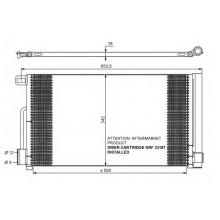Радиатор кондиционера FIAT GRANDE PUNTO