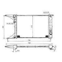 Радиатор охлаждения  Omega B  50222 NRF