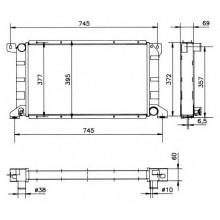 Радиатор охлаждения FORD TRANSIT, 52034 NRF