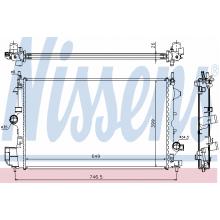 Радиатор охлаждения OPEL VECTRA C 1.9 CDTI, 61914A NISSENS