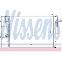 Радиатор охлаждения IVECO DAILY, 61981 NISSENS