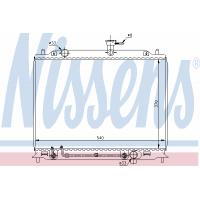 Радиатор охлаждения ACCENT 1.5 CRDi 67504 NISSENS