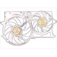 Вентилятор радиатора охлаждения двигателя автомобиля
