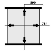Сердцевина интеркулера MERCEDES-BENZ NG-90 590X784X50