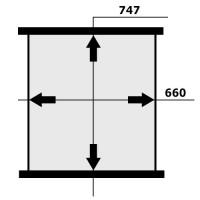 Сетка радиатора MERCEDES-BENZ NG-90 747x660x72