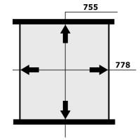 Сердцевина интеркулера RENAULT TRUCKS MAGNUM 755x778x63
