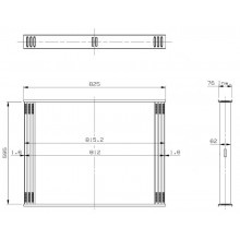 Сота интеркулера RVI PREMIUM ROUTE 420.18T 593x812x66