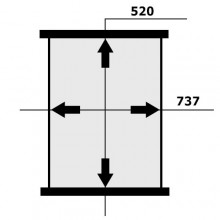 Сота интеркулера  DAF CF 65 /75 /85 520x737x50