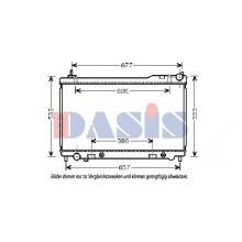Радиатор охлаждения INFINITI FX 45 - 070145N (AKS DASIS)