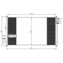 Радиатор кондиционера NISSAN MURANO (Z50) - 072028N (AKS DASIS)