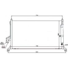 Радиатор кондиционера INFINITI FX35/45 - 102015N (AKS DASIS)