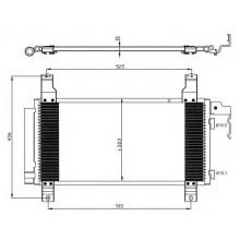 Радиатор кондиционера MAZDA 6 -07 - 112015N (AKS DASIS)