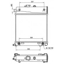 Радиатор охлаждения для мерседес С-класс, Е-класс