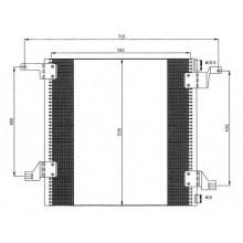 Радиатор кондиционера MERCEDES-BENZ M-CLASS, W163 - 122005N (AKS DASIS)