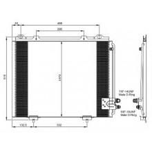 Радиатор кондиционера для мерседес е-класс