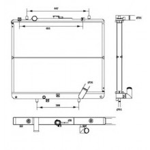 Радиатор охлаждения MITSUBISHI L 200 - 140017N (AKS DASIS)